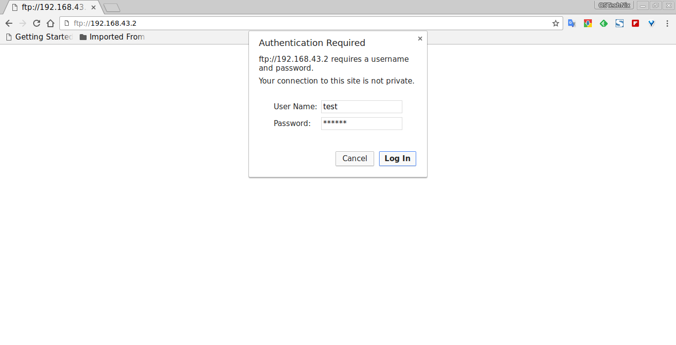 Install VSFTPD server in Ubuntu 16 04 LTS - OSTechNix