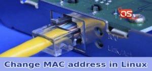 change mac address in linux