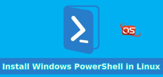 Install Windows PowerShell in Linux