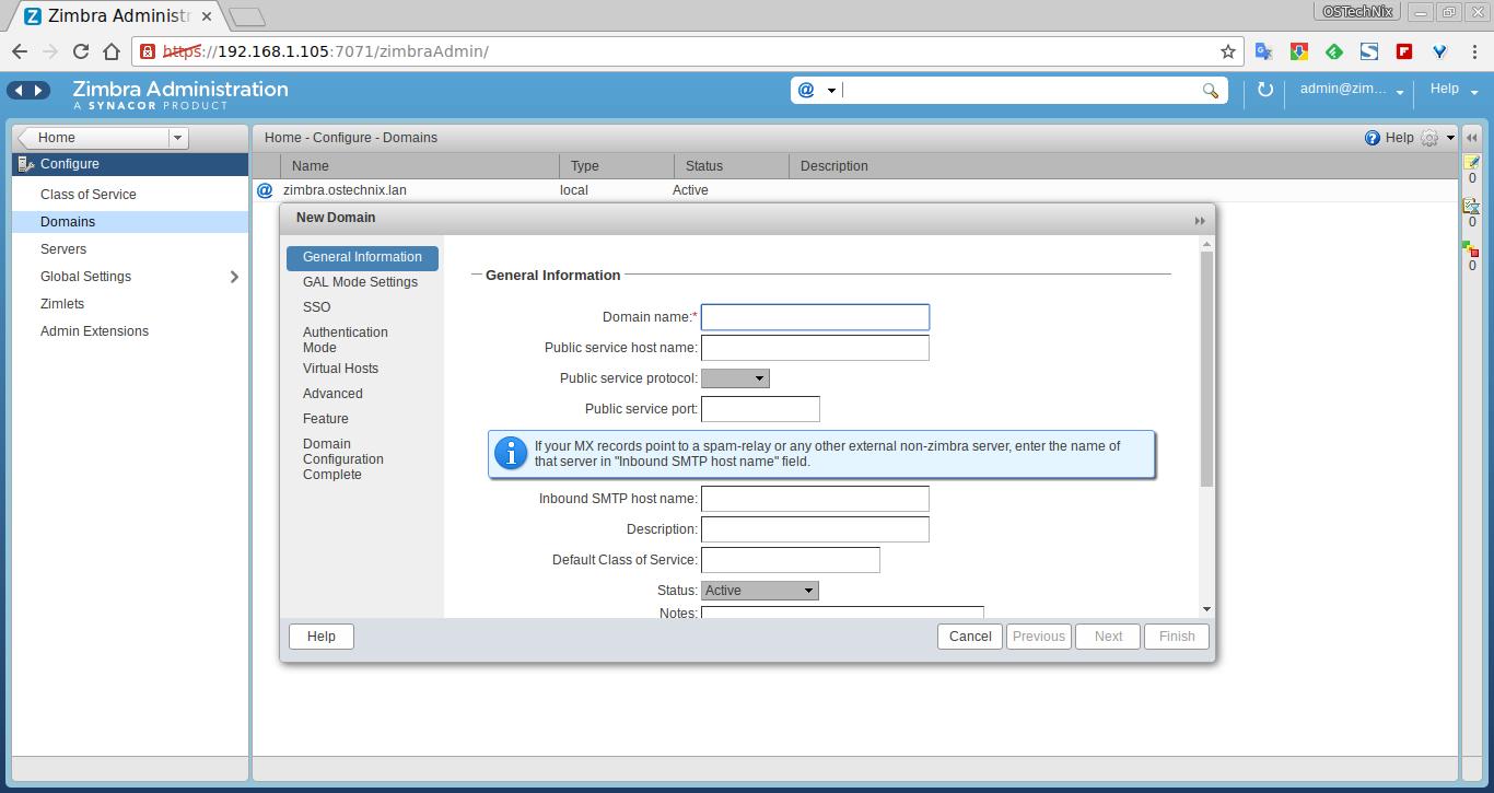 Install Zimbra Collaboration Suite 8 7 in Ubuntu 14 04 LTS