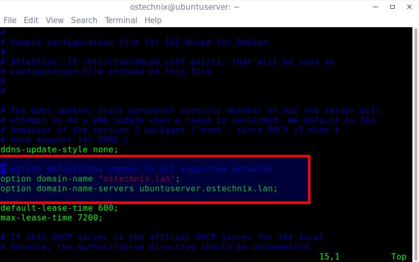 Install DHCP Server in Ubuntu 16 04 - OSTechNix