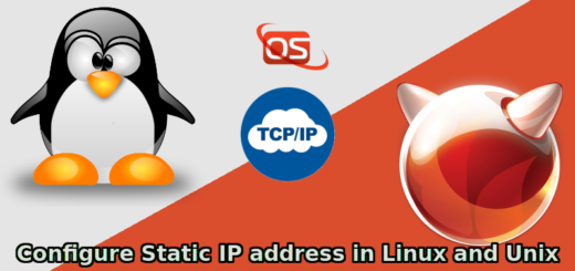 configure a static ip address linux