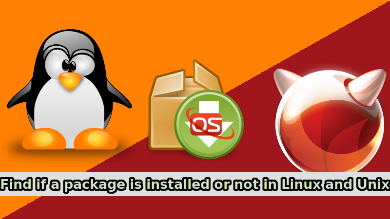 How To Find If A Package Is Installed Or Not In Linux And Unix
