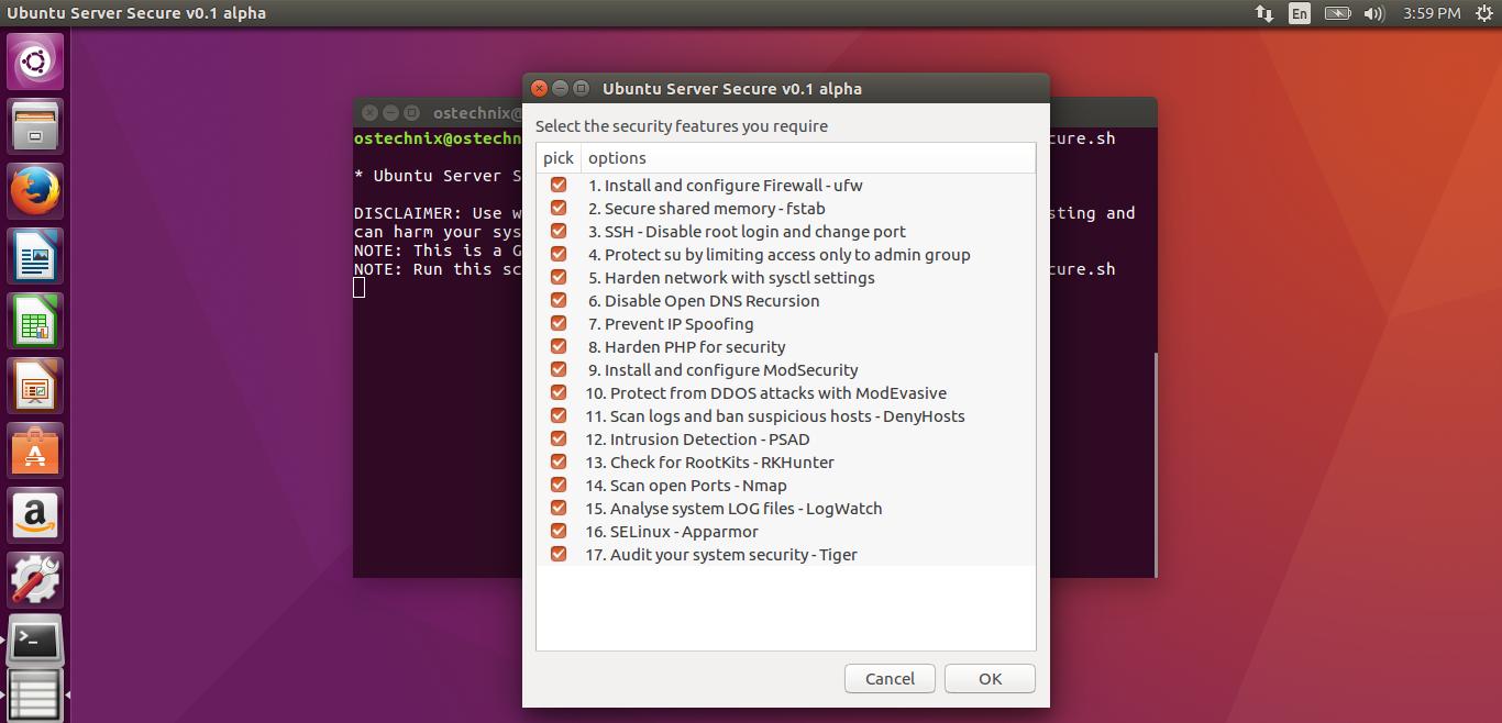 Ubuntu Server Secure - A script to secure and harden Ubuntu