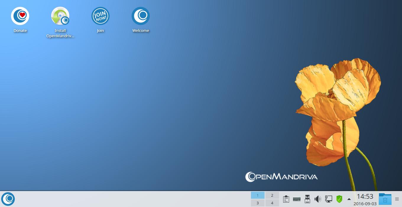 mandriva change desktop