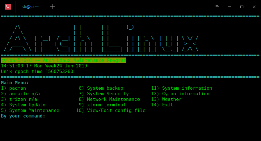 Cylon - The Arch Linux Maintenance Program For Newbies