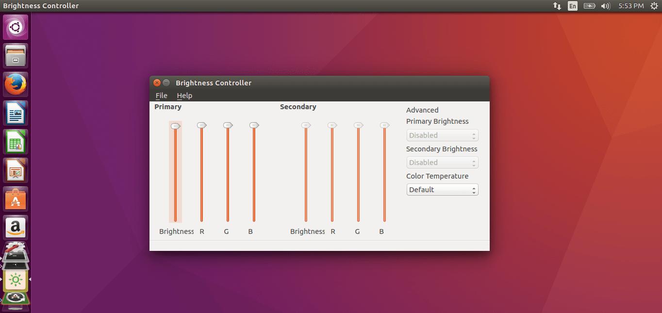 How to control the brightness in Ubuntu using Brightness