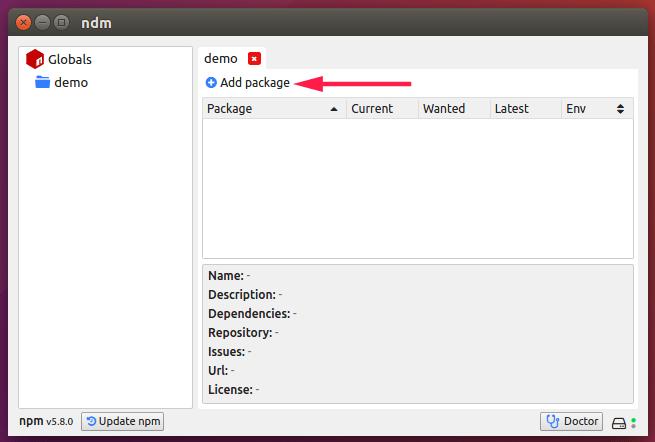 Ndm - A Desktop GUI Application For NPM - OSTechNix