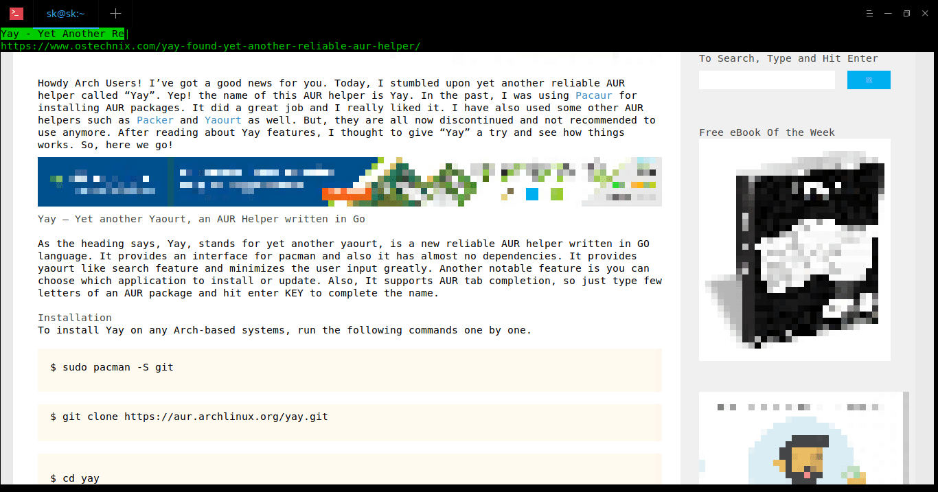 Browsh - A Modern Text Browser That Supports Graphics And Video