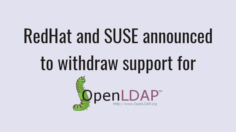 RedHat And SUSE Announced To Withdraw Support For