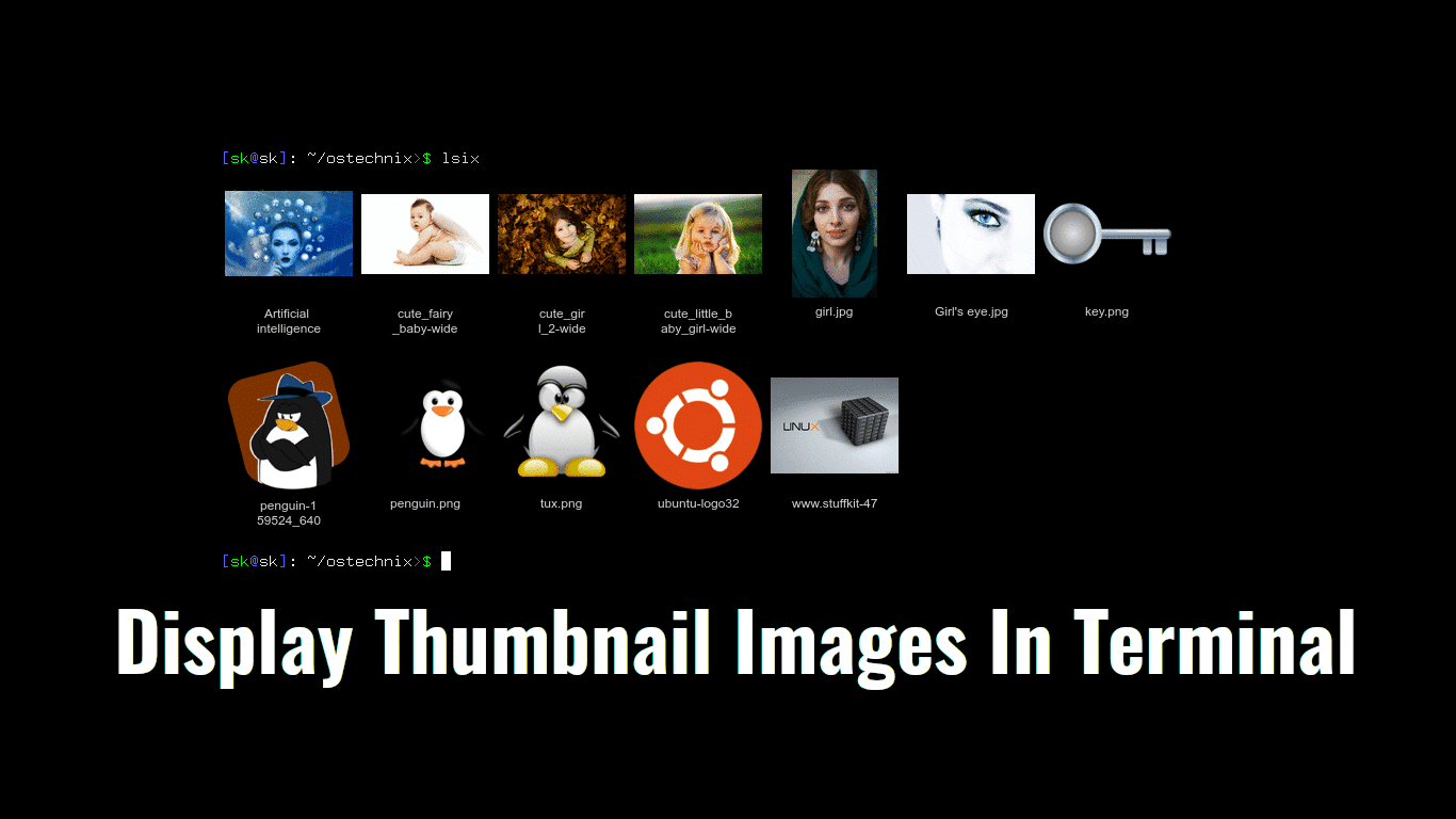 How To Display Thumbnail Images In Terminal - OSTechNix