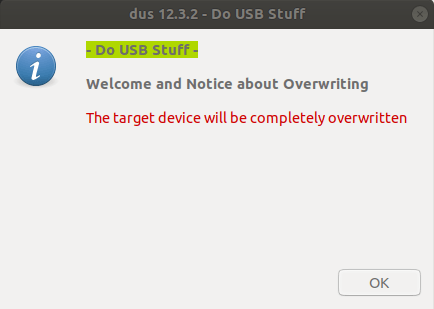 mkusb will overwrite target usb device