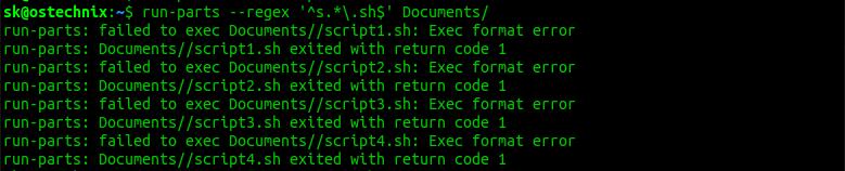 run-parts: failed to exec script.sh: Exec format error