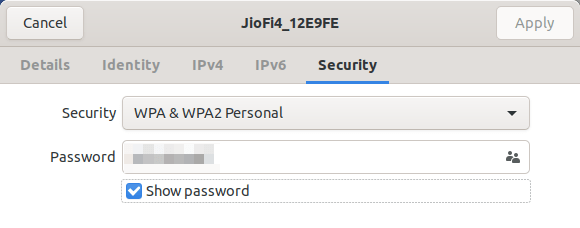 Find WiFi Password Of Connected Networks From Network Manager (GUI) In Linux
